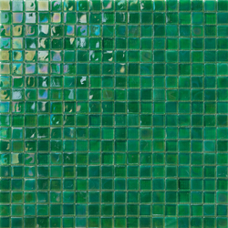 Perle 15x15 Verde | Glas Mosaike | Mosaico+