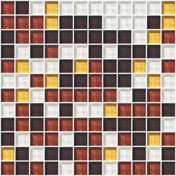 Sfumature 23x23 Caramello | Glass mosaics | Mosaico+
