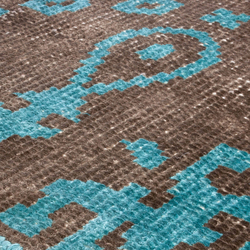 Vivid Vol. I coffee brown peacock blue | Rugs / Designer rugs | Miinu