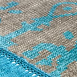 Vivid Vol. I stone gray peacock blue | Formatteppiche / Designerteppiche | Miinu
