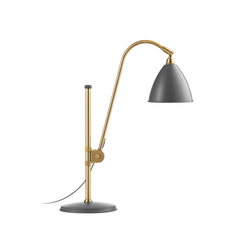 Bestlite BL1 Table lamp | Grey/Brass | Lampes de bureau | GUBI