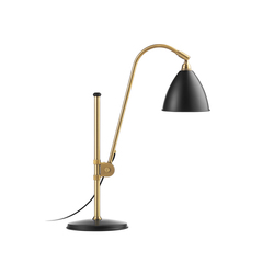 Bestlite BL1 Table lamp | Charcoal Black/Brass | Lampes de bureau | GUBI