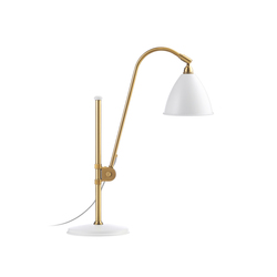 Bestlite BL1 Table lamp | Matt White/Brass | Lámparas de trabajo | GUBI