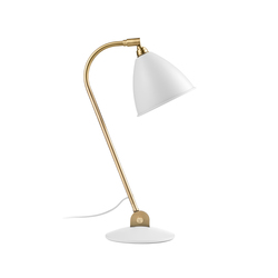 Bestlite BL2 Table lamp | Matt White/Brass | Arbeitsplatzleuchten | GUBI