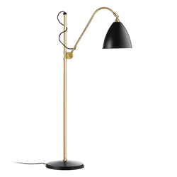 Bestlite BL3 M Floor lamp | Charcoal Black/Brass | General lighting | GUBI