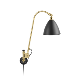 Bestlite BL6 Wall lamp | Charcoal Black/Brass | Task lights | GUBI