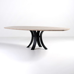 Kops slim dining table semi-oval | Mesas comedor | Van Rossum