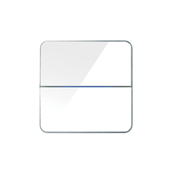 Enzo 2-way white glass | KNX-Systeme | Basalte
