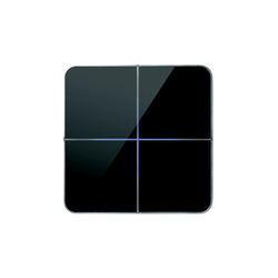 Enzo 4-way black glass | Sistemi KNX | Basalte