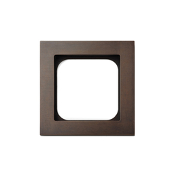 Frame classic 1-gang bronze | Prese di corrente | Basalte