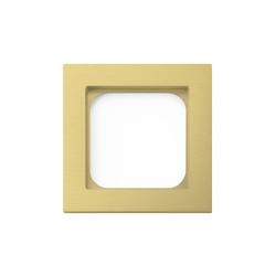 Frame classic 1-gang brushed brass | Socket outlets | Basalte