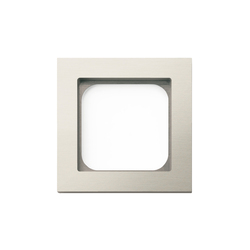 Frame classic 1-gang brushed nickel | Socket outlets | Basalte
