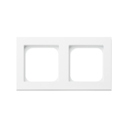 Frame 2-gang satin white | Socket outlets | Basalte