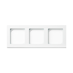 Frame 3-gang satin white | Socket outlets | Basalte