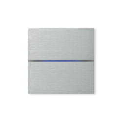 Sentido 2-way brushed aluminium | KNX-Systems | Basalte