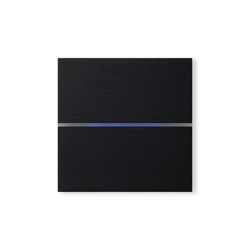 Sentido 2-way brushed black | KNX-Systems | Basalte