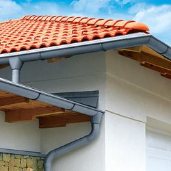 Roof drainage | Halfround gutter | Drainage systems | RHEINZINK