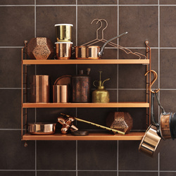 string pocket copper | Shelves | string furniture