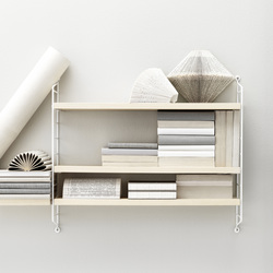 string pocket ash/white | CD racks | string furniture