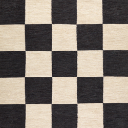 Allium Fox Trott black & white | Rugs | Kateha