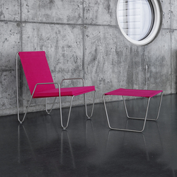 Panton Bachelor Chair with footstool | wild rose | Gartensessel | Montana Møbler