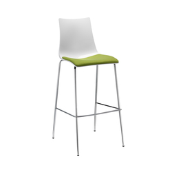 Zebra Antischock stool 4-legs frame | Barhocker | Scab Design