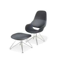 8225/3 Volpe + 8222/0 Stool | Loungesessel | Kusch+Co