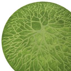 Birds Nest Lino green L21 | Rugs / Designer rugs | Kateha