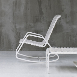 Raphia rocking rocking chair chairs from casamania architonic - Rocking chair jardin ...