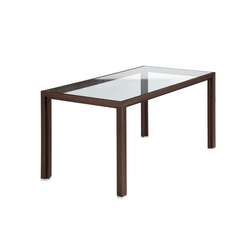 Dining table glass smoked oak | Tables de repas | Alvari