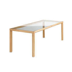 Conference table oak top glass | Mesas de conferencias | Alvari