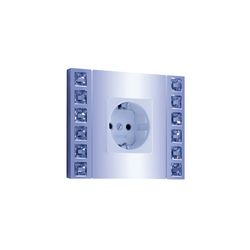 Crystal de Luxe Switch | Schuko sockets | FEDE