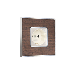 Vintage Wood Switch | Schuko sockets | FEDE