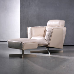 HEIT swivel chair & ottoman | Lounge chairs | Piet Boon
