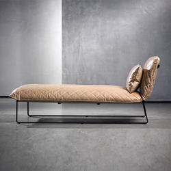 Chaiselongue design  CHAISE LONGUES WITH SEAT IN LEATHER - High quality designer CHAISE ...