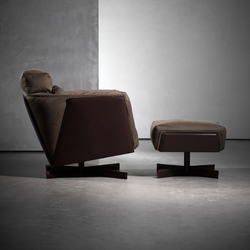 HEIT armchair with stool | Lounge chairs | Piet Boon