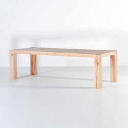 X type dining table dining tables from van rossum architonic - Tafel zeus ...