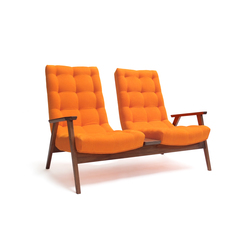 Acorn Two Seater | Waiting area benches | Bark