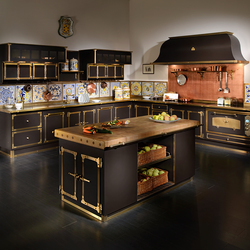 COFFEE & BURNISHED BRASS KITCHEN | Fitted kitchens | Officine Gullo