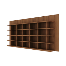 Book Wall Shelf (low)  set variation | Office shelving systems | Time & Style
