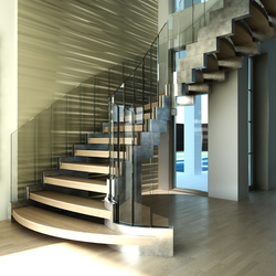 Cobra silver | Glass stairs | Siller Treppen