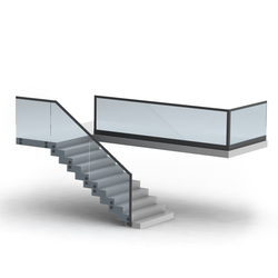 Alu Glass | Stair railings | LEDsON