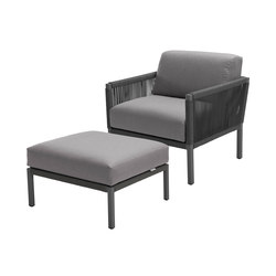 Club Lounge Chair and Footstool | Sillones de jardín | solpuri