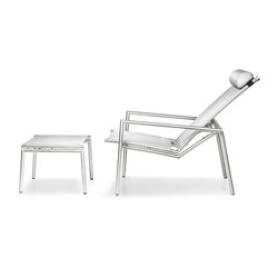 Elegance Deck Chair and Footstool | Poltrone da giardino | solpuri