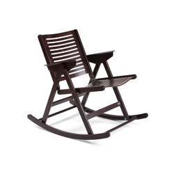 Rex Rocking Chair Dark Brown | Garden chairs | Rex Kralj