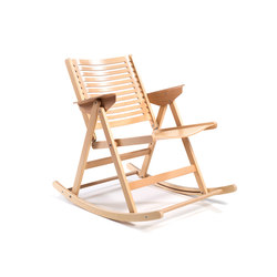 Rex Rocking Chair beech natural | Gartenstühle | Rex Kralj