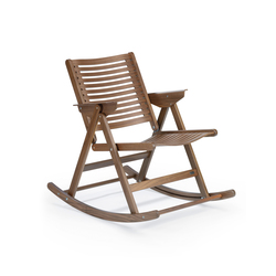 Rex Rocking Chair walnut | Gartenstühle | Rex Kralj
