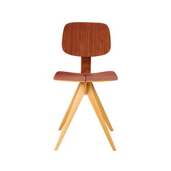 Mosquito Walnut Seat and Natural Legs | Visitors chairs / Side chairs | Rex Kralj