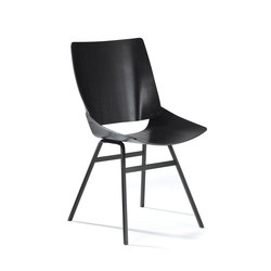 Shell Chair Black | Besucherstühle | Rex Kralj