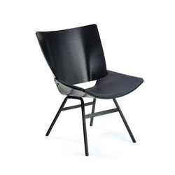 Shell Lounge Leather Seat | Lounge chairs | Rex Kralj